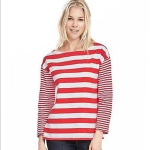 BANANA REPUBLIC Striped Boatneck Shirt Sweater